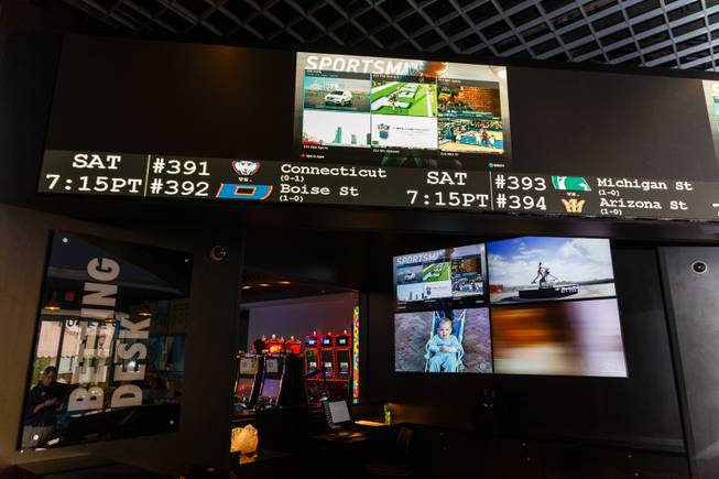 The betting desk section of a new sports book and bar called The Book inside The LINQ is seen here, Wednesday, Sep. 5, 2018.