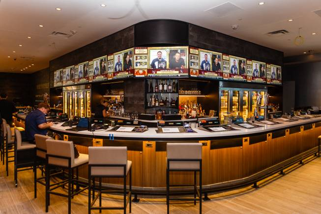 An interior view of a new sports book and bar called The Book inside The LINQ, Wednesday, Sep. 5, 2018.