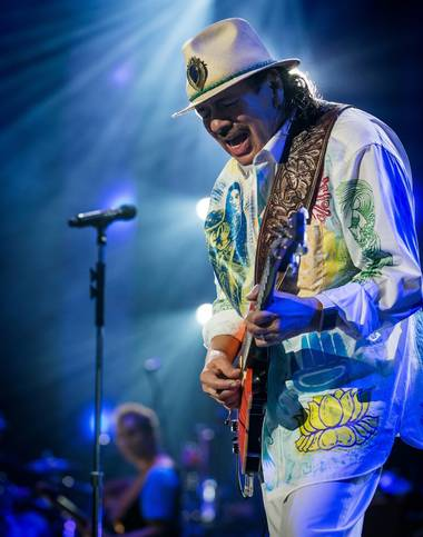 Carlos Santana returns to his residency at the House of Blues this week.