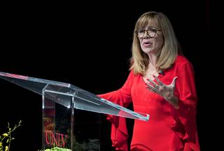 UNLV Acting President Marta Meana gives the annual State of the University address at UNLV Thursday, Sept. 13, 2018.