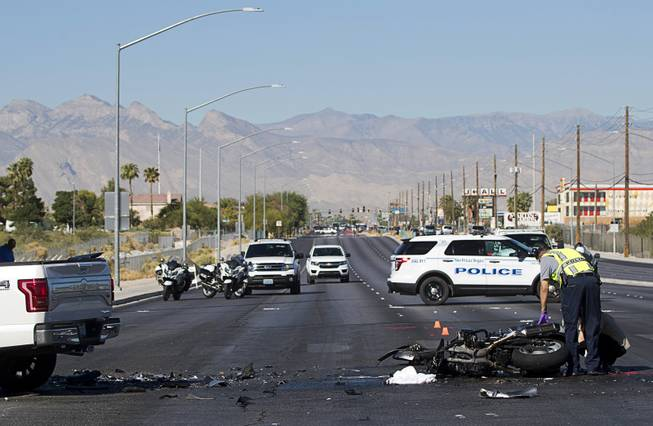 Photograph : Fatal Motorcycle Accident at Craig and North 5th -