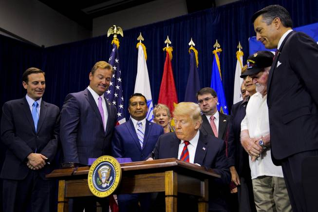 Trump Meets With Supporters Visits Va In North Las Vegas