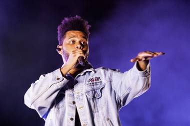 The Weeknd performs during the first day of the Life is Beautiful music festival in downtown Las Vegas, Friday, Sept. 21, 2018.