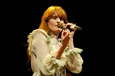 Florence + the Machine performs during the second day of the Life is Beautiful music festival in downtown Las Vegas, Saturday, Sept. 22, 2018.