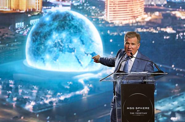 Builder picked for MSG Sphere at the Venetian