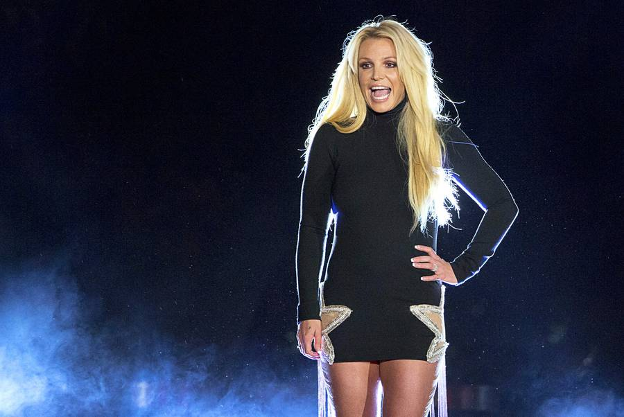 Singer Britney Spears makes an appearance in front of the Park MGM Thursday, Oct. 18, 2018. Spears announced her new residency at the Park Theater beginning in February 2019.