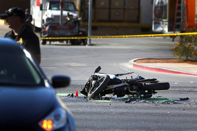 Fatal Motorcycle Accident on Nellis Blvd -