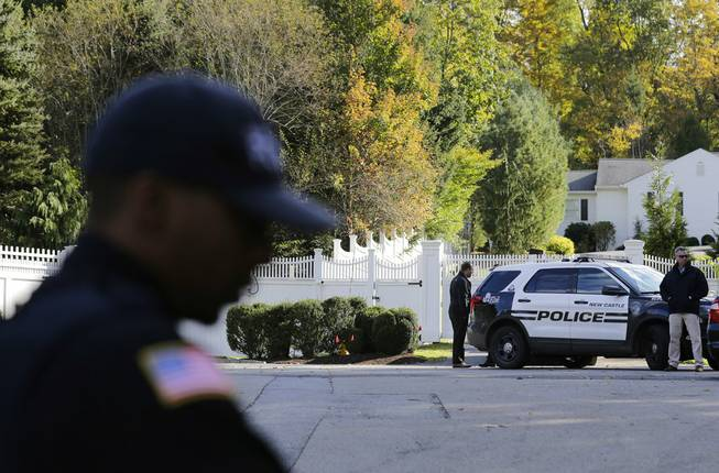 Explosive device found at Clintons' N.Y. home, official says