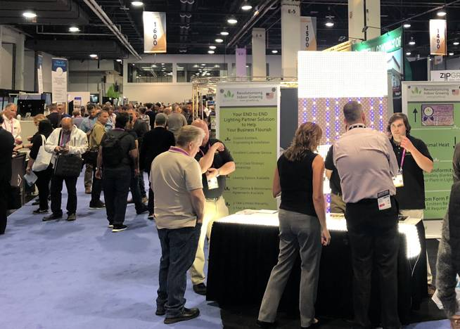 People pack the Las Vegas Convention Center on Thursday, Nov. 15, 2018, for the annual Marijuana Business Conference.