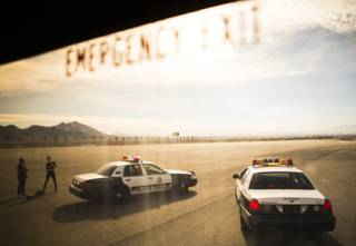 Media day demonstration at Police Chase Las Vegas at the Las Vegas Motor Speedway on Tuesday, Nov. 20, 2018.
