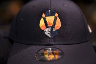 c593afd7d A baseball cap with an Aviators logos is shown at the Las Vegas Ballpark  store after