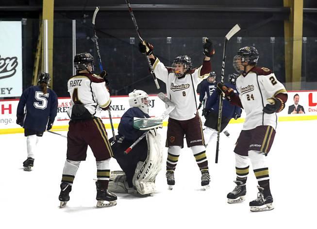 newest 966c5 dc458 Las Vegas hockey craze hits Faith Lutheran - Las Vegas Sun ...
