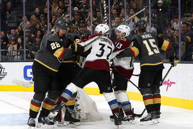 Blog: Golden Knights gut out home win over Avalanche - Las Vegas Sun