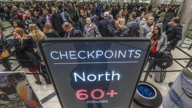 Atlanta airport: Wait over 1 hour at checkpoints - Las Vegas