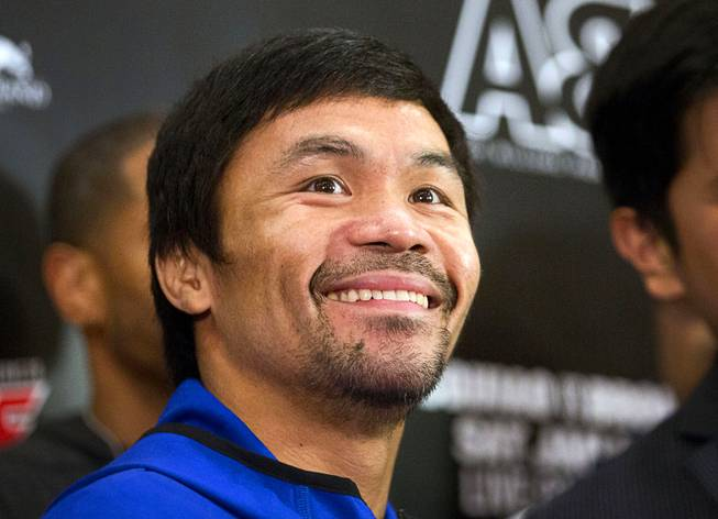 Manny Pacquiao and Adrien Broner Make Grand Arrivals