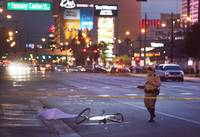 In an attempt to flee the scene of a crash near the Strip, a motorist sped off. But it wasn't long before he hit and killed a man riding his bicycle in a designated lane. The suspect then fled again, ditched his Honda Odyssey minivan at a nearby casino and took off on foot ...