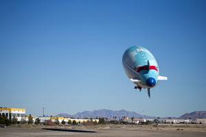 The Carnival AirShip takes off from the North Las Vegas ...