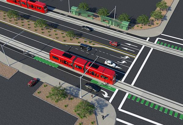 The people in Las Vegas wanted light rail, but the leaders voted for a bus