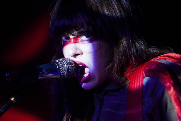 Le Butcherettes performs at the Bunkhouse Saloon on the third night of the Neon Reverb music festival early Sunday morning, March 12, 2017.
