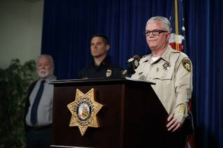 Deputy Chief Christopher Darcy speaks during a Metro Police media briefing for a hazardous materials incident involving ricin Wednesday, Feb. 20, 2019.