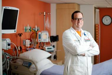 Dr. Michael Ciccolo, director of congenital cardiovascular surgery at Children's Heart Center Nevada, has spent 19 years working to replicate the environment of care in Nevada that he enjoyed in Los Angeles, and with the opening of a 14-bed pediatric intensive care unit at Sunrise Hospital, he can proudly declare that mission accomplished.