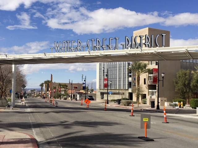 A look at Water Street in Henderson Friday, March 8, 2019. City leaders and business owners plan to keep the momentum going as the Water Street District in Henderson continues to be redevelopment.