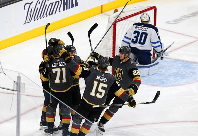 Jets fail to clinch, blanked by Subban, Golden Knights