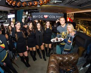 Colton Underwood and Cassie Randolph at Hyde Lounge at T-Mobile Arena