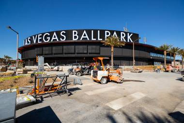 A view of the new Las Vegas Ballpark in Downtown Summerlin Thursday, March 28, 2019. The stadium opens April 9 for the Aviators' opener.