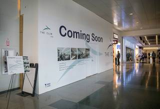 A view of The Club LAS in Terminal 3 at McCarran International Airport Wednesday, April 10, 2019. The 7,000-square-foot lounge opens to travelers Thursday, April 11.