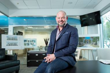 "Tim Deters, owner and president of TRU Development, aims high. In 20 years, he has developed nearly 7,000 multifamily units in the Southwest and has launched his most ambitious project yet with Kaktuslife, which ""we predict ... will changed apartment living in Clark County,"" he says."