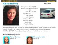 An Amber Alert was issued today for a teen girl last seen in Southern California with her mother and a man who are homicide suspects, according to the ...