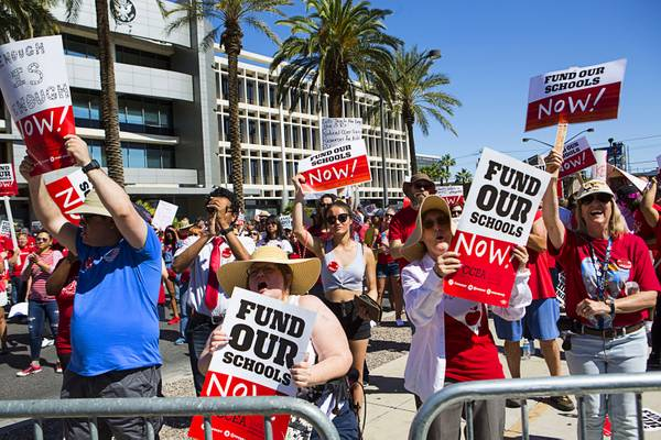Clark County Teachers Affirm Strike Commitment If Funding: Teachers Union Sets Tentative Strike Date; Schools To Stay