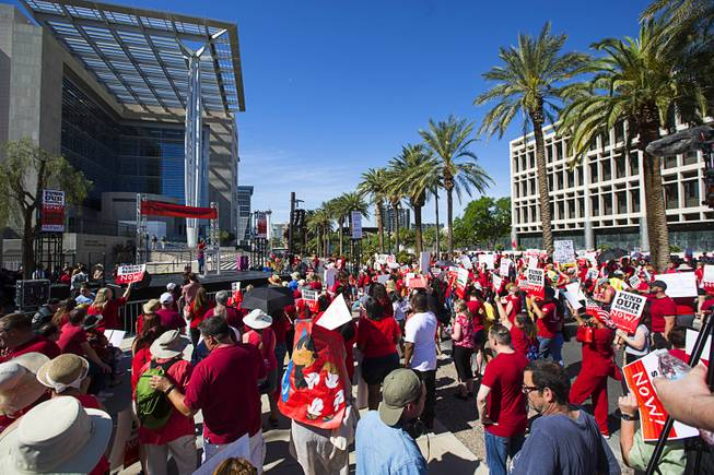 Teacher's Union Rally in Downtown Las Vegas