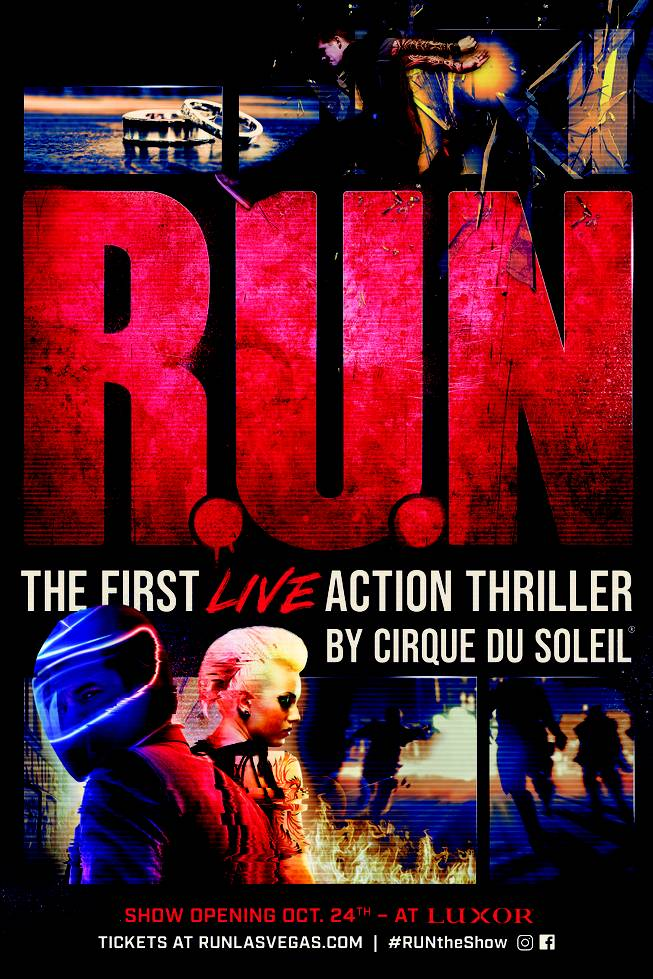 "The poster for Cirque du Soleil's new ""R.U.N"" show."