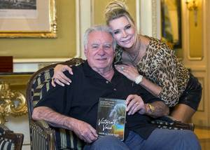 Westgate Las Vegas CEO David Siegel and wife Jackie appear Friday, May 3, 2019, with the book