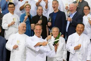 Chef Bruce Bromberg does the honors as Vegas Uncork'd kicks off its 13th year with a ceremonial