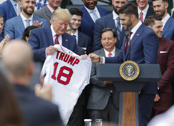 Against Backdrop Of Controversy, Red Sox Honored By Trump