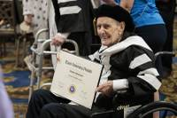 Touro University Nevada recognized 21 Holocaust survivors by presenting them with honorary doctoral degrees during the medical school's commencement Monday at Westgate Las Vegas. Touro officials earlier this year started working with Esther Finder ...