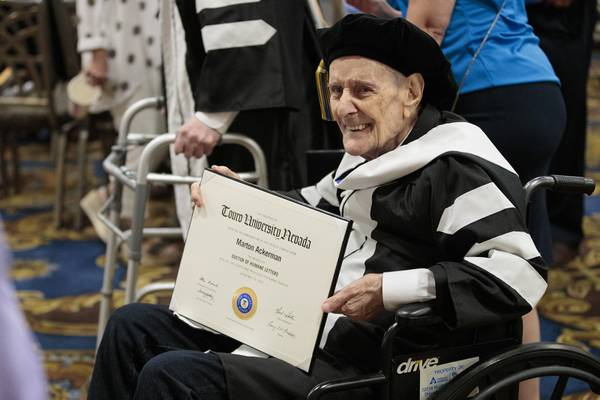 Local Holocaust Survivors Eagerly Accept Honorary Degrees