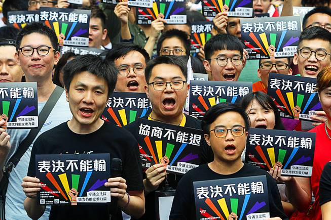 Taiwan approves same-sex marriage in first for Asia - Las
