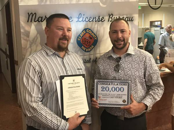 Same-sex Marriage Licenses In Clark County Hit 20,000 Mark