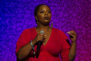 Co-founder of the #blacklivesmatter movement Patrisse Cullors speaks during the Emerge Festival at the Hard Rock Hotel Saturday, June 1, 2019.