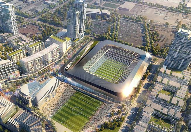 las vegas oks talks for major league soccer stadium