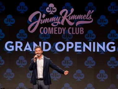 Jimmy Kimmel takes the stage at his comedy club at the Linq Promenade on June 14.