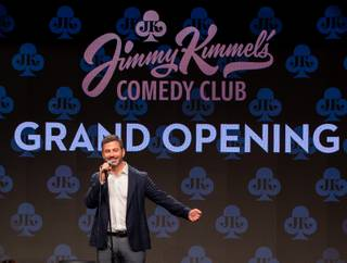 Jimmy Kimmel speaks during the grand opening of Jimmy Kimmel's Comedy Club at the LINQ Promenade Friday, June 14, 2019.