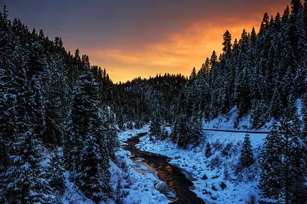 Payette River canyon in Smiths Ferry, Idaho, Dec. 14, 2018. Parts of the area are now owned by Dan and Farris Wilks, leaders among a new class of landowners who are buying up vast parcels of the West.