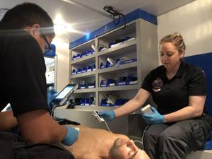 CSN's paramedic medicine students will be the first in the state to receive training in the use of portable ultrasound technology, thanks to a grant from the Governor's Office of Economic Development.