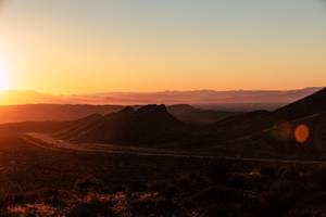 The sun rises at Red Rock Canyon Tuesday, July 2, ...