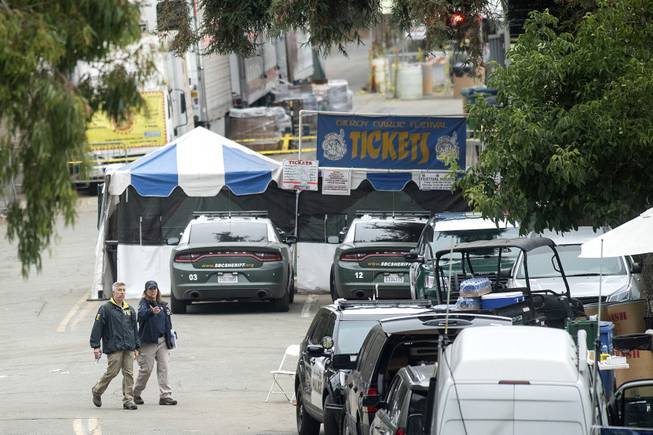 Garlic Festival shooter shot himself in the head, coroner says